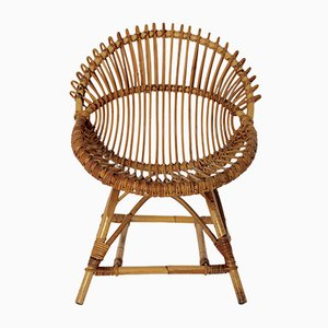 Mid-Century French Rattan Chair, 1960s