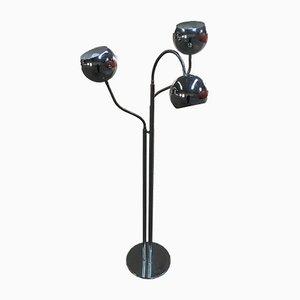 Lampadaire en Chrome avec Lampes Ajustables, Italie, 1970s