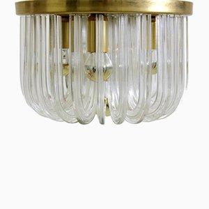 Deckenlampe aus Kristallglas von Cari Zalloni für Bakalowits & Söhne, 1960er