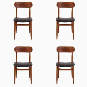 Chaises de Salon en Teck de Gessef, 1990s, Set de 4