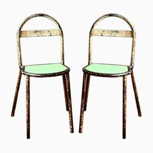 Industrielle Vintage Bauhaus Stühle, 2er Set