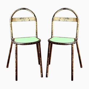 Vintage Industrial Bauhaus Chairs, Set of 2