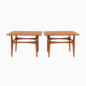 Large Teak Side Tables by Karl-Erik Ekselius for JOC Vetlanda, 1950s, Set of 2