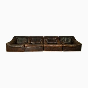 DS46 Buffalo Neck Leather Modular Sofa Set from de Sede, 1970s