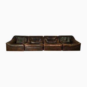 Sofá modular DS46 de cuero de cuello de búfalo de de Sede, años 60