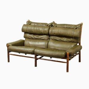 Mid-Century Inca Zwei-Sitzer Sofa von Arne Norell, 1960er