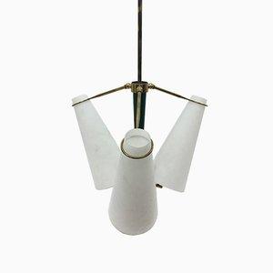 Italian Brass Ceiling Light, 1950s