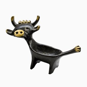 Cow Candle Holder by Walter Bosse for Hertha Baller, 1950s