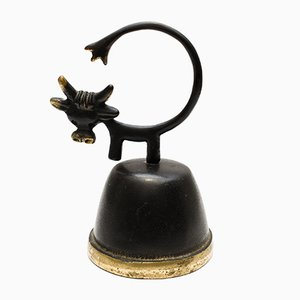 Austrian Cow Dinner Bell by Walter Bosse for Hertha Baller, 1950s