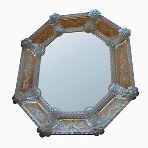 Octagonal Glass Mirror, 1940s