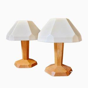 Lámparas de mesa antroposóficas de Dörfler, años 60. Juego de 2