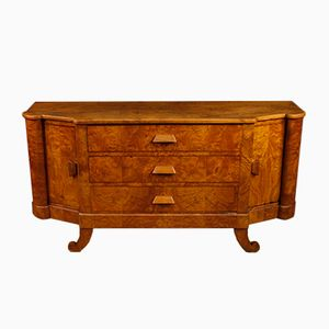 Mid-Century French Art Deco Sideboard in Wood