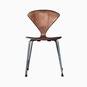Chaise d'Appoint Vintage avec Socle en Métal par Norman Cherner pour Plycraft