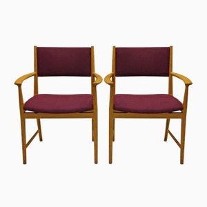 Dänischer Mid-Century Stuhl aus Eschenholz von Kai Lyngfeld Larsen für Søren Wiladsen