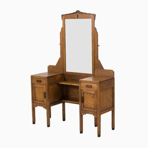Art Deco Amsterdam School Oak Vanity from Fa.Drilling, 1920s