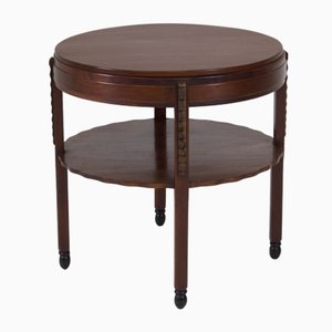 Art Deco Amsterdam School Mahogany Coffee Table from Fa.Drilling, 1920s
