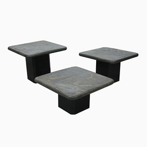 Dutch Stone Coffee Tables by Marcus Kingma, 1970s, Set of 3