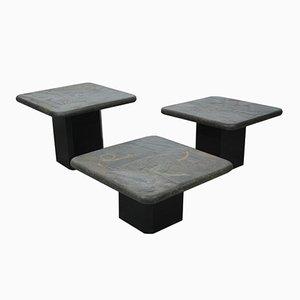 Tavolini da caffè in pietra di Marcus Kingma, Paesi Bassi, anni '70, set di 3