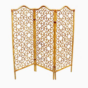 French Rattan Room Divider, 1960s