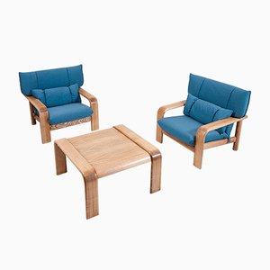 Vintage Sessel mit Couchtisch von Rolf Benz