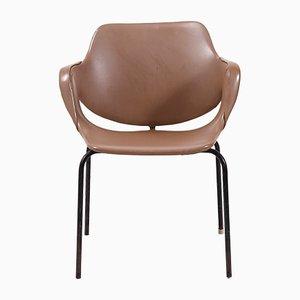 Chaise d'Appoint Vintage en Similicuir