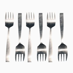 Model 2050 Cake Forks by Helmut Alder for Amboss, 1950s