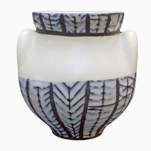 Vaso in ceramica con orecchie di Roger Capron, anni '50