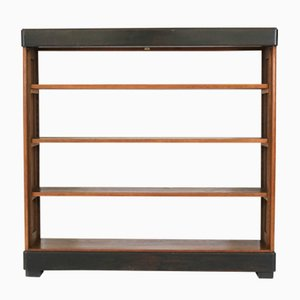 Vintage Dutch Art Deco Oak Open Bookcase by Frits Spanjaard for L.O.V