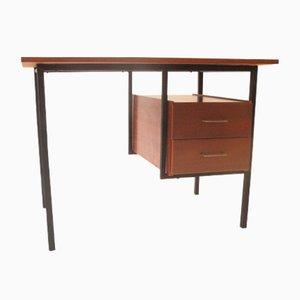 Schreibtisch aus Holz & Metall, 1960er