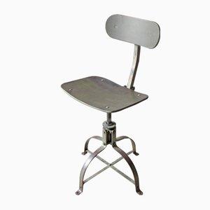 Chaise Industrielle Ajustable Vintage par Roger Blanc pour Bienaise, 1950s