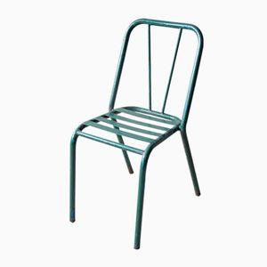 Grüner Vintage Stuhl aus Metall, 1940er