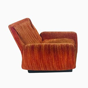 Vintage Italian Velour Lounge Chair from Saporiti, 1970s ,