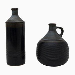 Steingut Krug-Vasen von Franco Bucci für Laboratorio Pesaro, 1970er, 2er Set