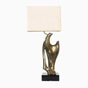Lámpara de mesa de bronce, años 70