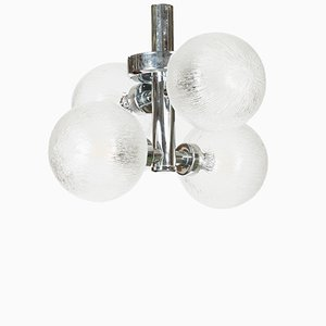 Vintage Chromed Ceiling Lamp