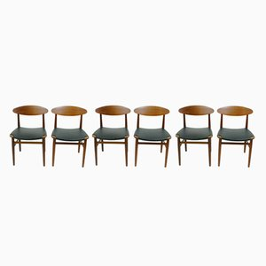 Dining Chairs by Peter Hvidt & Orla Mølgaard-Nielsen, 1960s, Set of 6