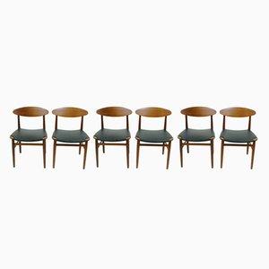Esszimmerstühle von Peter Hvidt & Orla Mølgaard-Nielsen, 1960er, 6er Set