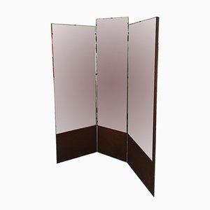 Specchio vintage con base in legno, Italia, anni '60