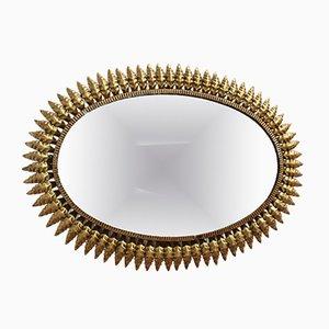 Spanish Gilt Metal Sunburst Mirror, 1950s