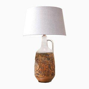Große deutsche Tischlampe aus Keramik mit geometrischem Muster, 1960er
