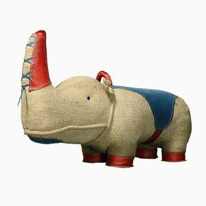 Jouet Thérapeutique Nossy Rhinocéros par Renate Müller pour H. Josef Leven KG, 1970