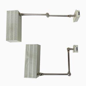 Beige Kubus Wandlampen von Max Bietenholz für Bünte & Remmler, 1960er, 2er Set