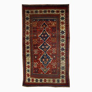 Antiker Handgefertigter Kaukasischer Kazak Teppich, 1900er