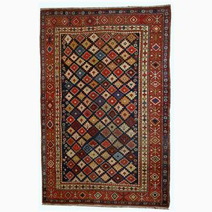 Handgefertigter Antiker Kaukasischer Shirvan Teppich, 1910er