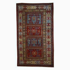 Antiker Handgefertigter Kaukasischer Kazak Teppich, 1890er