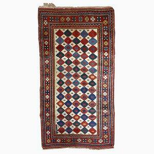 Tapis Kazakh Antique Caucasien Fait à la Main, 1890s