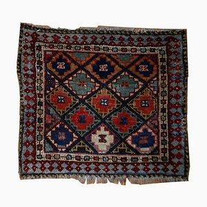 Alfombra de Oriente medio antigua tejida a mano, década de 1880