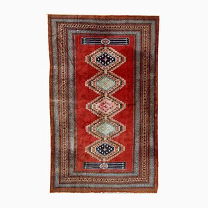 Alfombra Bukhara uzbeka vintage hecha a mano, años 60