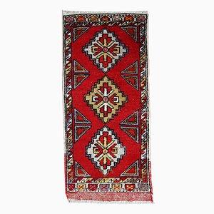 AlfombraYastik turca vintage hecha a mano, años 50