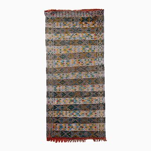 Alfombra Kilim tunecina vintage de tejido plano hecha a mano, años 50